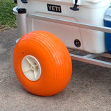 Balloon tires for fishing carts