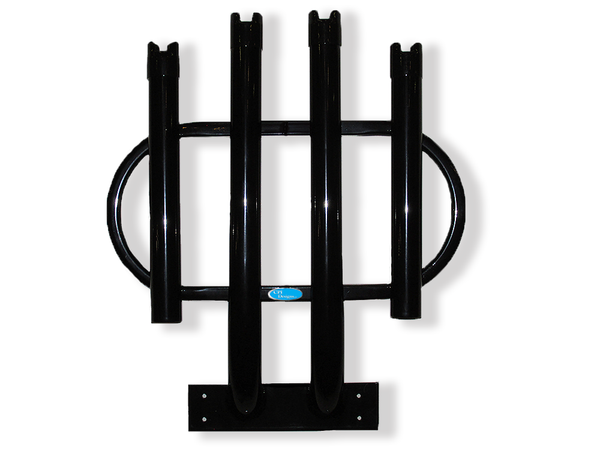 Black Rod Rack 4 Rod Holder for Surf Fishing