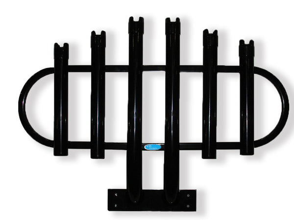 Rod Rack Bumper Mount Black 6 Rod Holder for Trucks