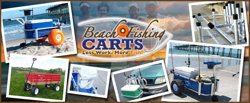 fishing carts rod racks surf fishing