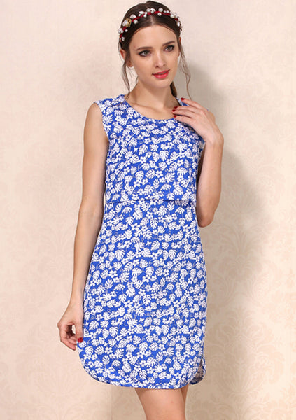 Little Blue Leaf Nursing Dress