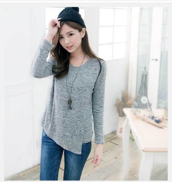 Grey Breastfeeding Wrap Top