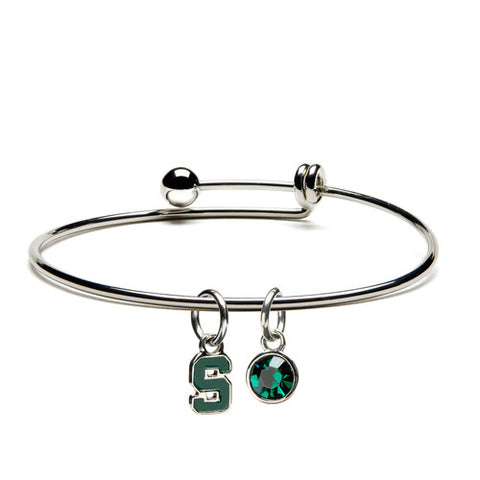 MSU Block S Charm Bracelet Bangle (MOQ 2)