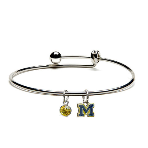 University of Michigan Blue M Bracelet Bangle (MOQ 2)