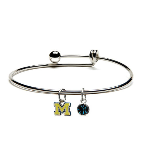 University of Michigan Maize M Bangle Bracelet (MOQ 2)