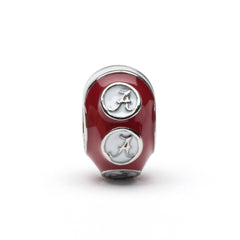 <B><I>BEST SELLER!</B></I> Alabama Round Crimson Bead Charm (MOQ 2)