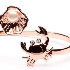 Oyster and Crab Full Copper Bangle Bracelet Jewelry (MOQ 2)