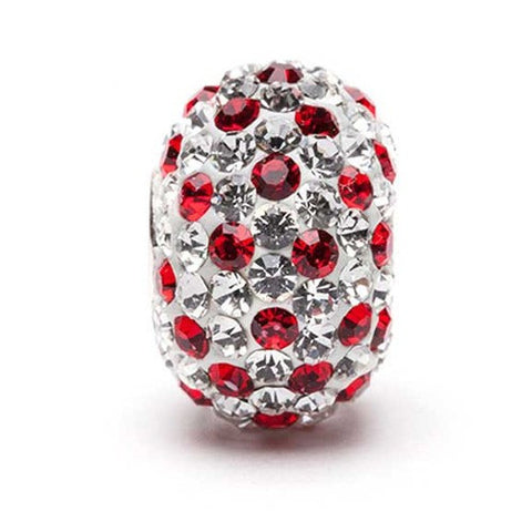 Red and Clear Crystal Bead (2 MOQ)