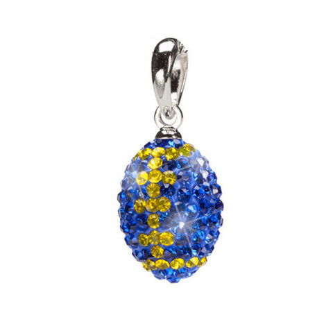 Blue with Yellow Crystal Charm Pendant (MOQ 2)