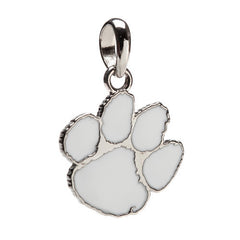 Clemson University White Paw Charm Pendant with Necklace chain (MOQ 2)