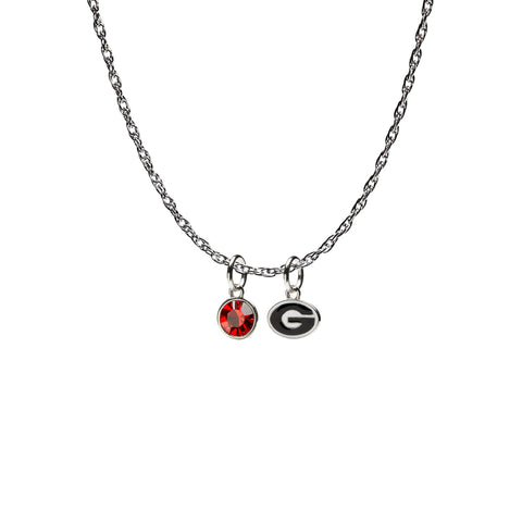 <B><I>NEW!</B></I> Georgia Bulldogs Necklace - Ring the Bell!