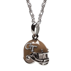 Georgia Tech Football Helmet Charm Pendant Necklace (MOQ 2)
