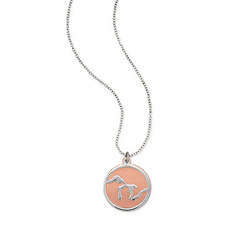 <B><I>NEW!</B></I> Great Lakes Necklace with Copper Accent (MOQ 2)