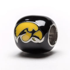 University of Iowa Hawkeye Bead Charm Bracelet