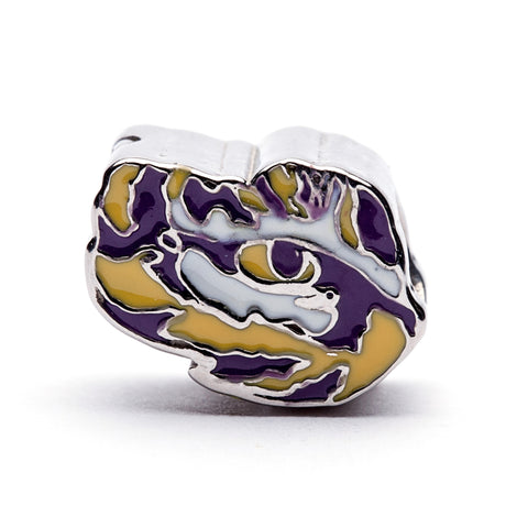 LSU Tiger Eye Bead Charm (MOQ 2)