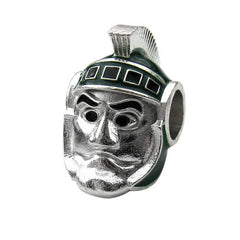 <B><I>BEST SELLER!</B></I> Michigan State Sparty Bead Charm (MOQ 2)