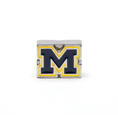 University of Michigan Bead Charm Bracelet