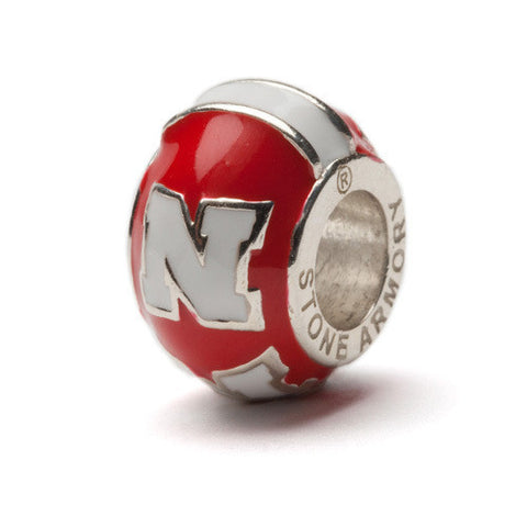 University of Nebraska N Logo Bead Charm - Red (2 MOQ)