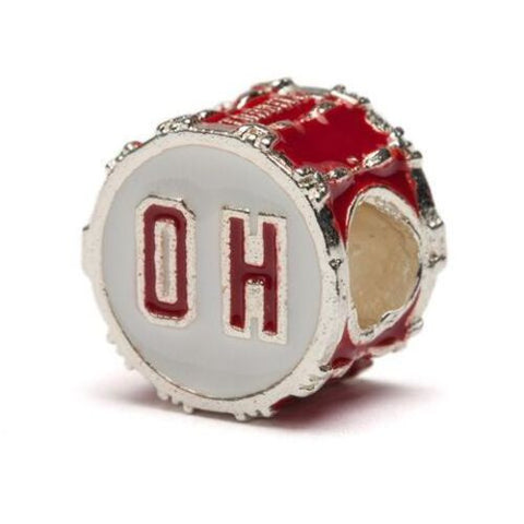 Ohio State Red OH Drum Bead Charm (MOQ 2)