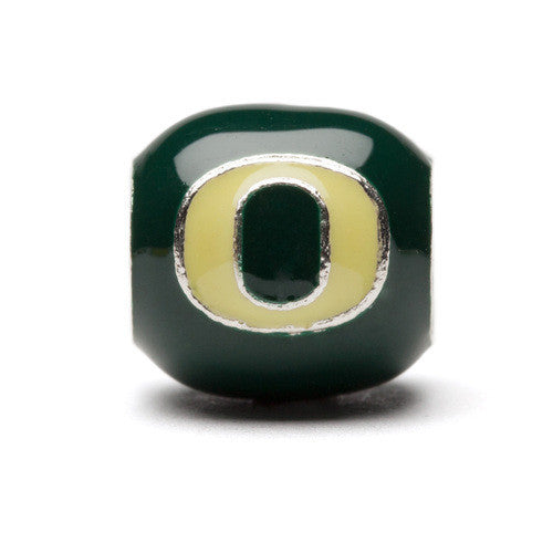 Green and Yellow Oregon Block O bead Charm (MOQ 2)