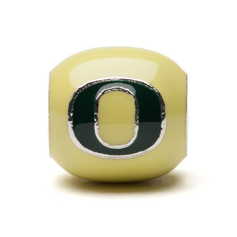Oregon Block O Yellow and Green Bead Charm (MOQ 2)