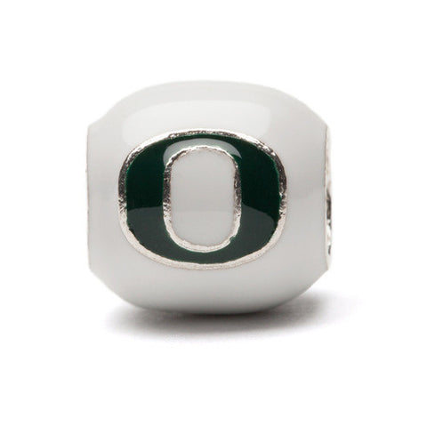 Oregon Block O - White and Green - Fits Pandora (MOQ 2)