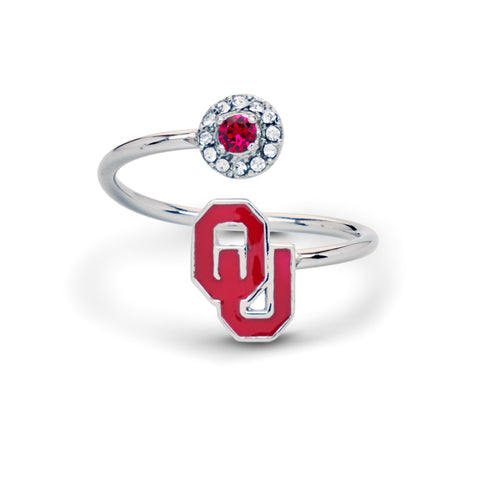 Oklahoma Sooners Ring - Adjustable (MOQ-2)