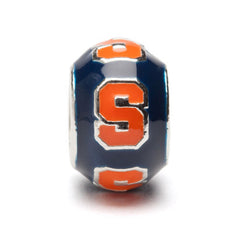 Syracuse Round Navy with Orange S Bead Charm (MOQ 2)