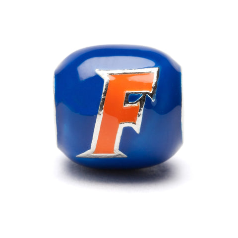 <B><I>BEST SELLER!</B></I> University of Florida Gators Blue and Orange Block Charm - Stainless Steel (MOQ 2)