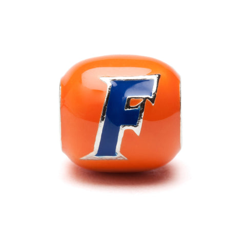 Orange and Blue Florida Gators Block Charm - Stainless Steel (MOQ 2)