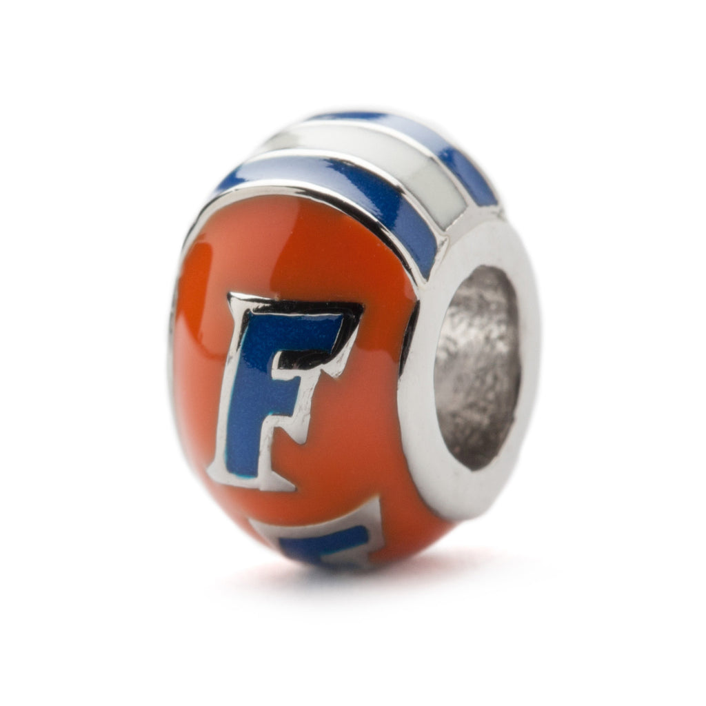 Orange and Blue Florida Gators Round Bead Charm (MOQ 2)