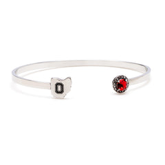 <B><I>BEST SELLER!</B></I> Ohio State University Map Bangle Bracelet with Crystal (MOQ 3)