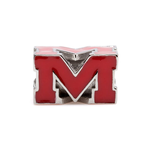 Rebels Red Block M Bead Charm (MOQ 2)