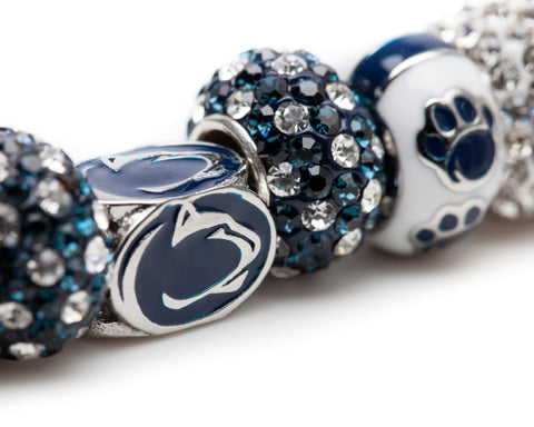 Pennsylvania State University Nittany Lions Bead Charm Bracelet Jewelry