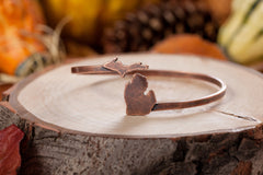 <B><I>BEST SELLER!</B></I> Antique Copper Michigan State Map Wrap Bangle Bracelet (MOQ 5)