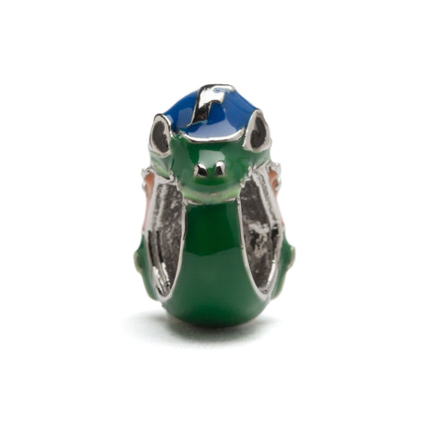 <B><I>BEST SELLER!</B></I> University of Florida Charm | Albert Gator Mascot Bead | Florida Gators Jewelry | Gators Charm | UF Jewelry (MOQ 2)