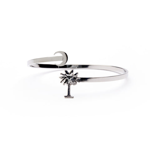 South Carolina Palmetto Bangle Bracelet - Stainless Steel (MOQ 2)