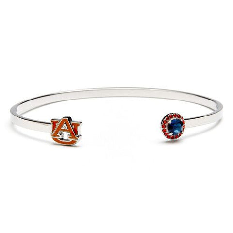 Auburn Orange AU with Blue & Orange Crystal Bangle Bracelet (MOQ 2)