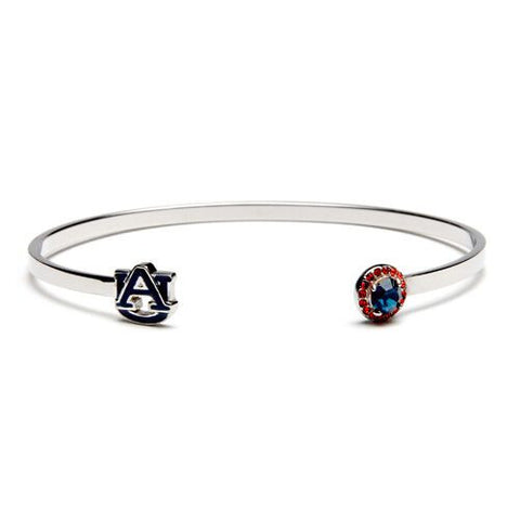 Auburn Navy AU with Navy & Orange Crystal Bangle Bracelet (MOQ 2)
