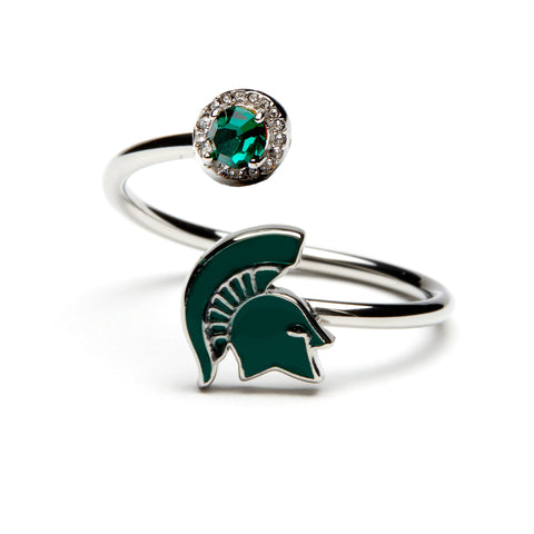 <B><I>BEST SELLER!</B></I> Michigan State Spartan Ring - Stainless Steel (MOQ 2)