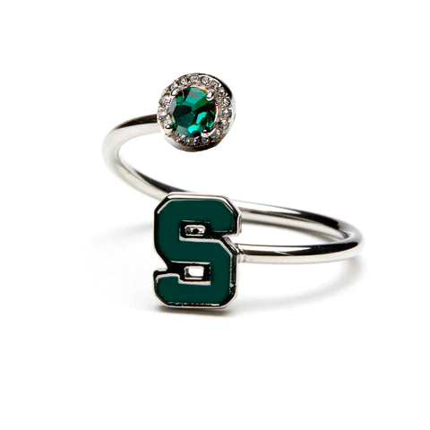 Michigan State Block S Ring - Stainless Steel (MOQ 2)