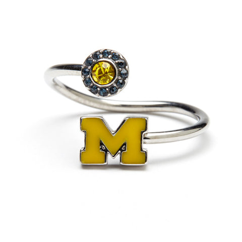 University of Michigan Maize M Ring with Crystals (MOQ 2)