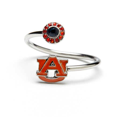 Auburn Tigers Orange AU Adjustable Ring - Auburn University