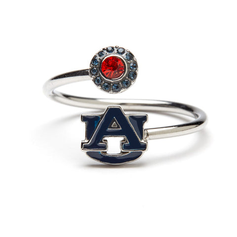 <B><I>BEST SELLER!</B></I> Auburn Tigers Blue AU Adjustable Ring (MOQ 2)