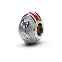 <B><I>BEST SELLER!</B></I> Ohio State<br/>6-Leaf Helmet Buckeye Bead (MOQ 2)