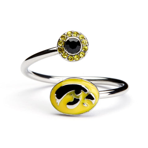 <B><I>BEST SELLER!</B></I> Iowa Hawkeyes Ring - Adjustable (MOQ-2)