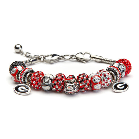 <B><I>NEW!</B></I> University of Georgia Bulldogs Charm Bracelet Jewelry