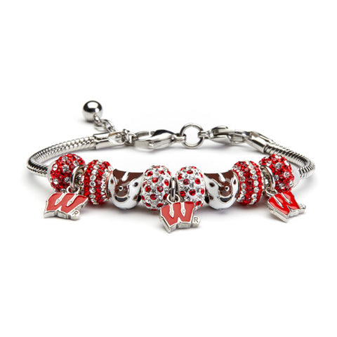 University of Wisconsin Bead Charm Bracelet Jewelry