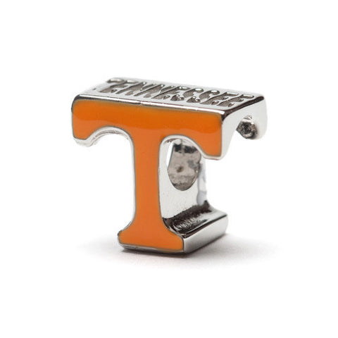 Tennessee Vols Orange T Bead Charm  - Fits Pandora (MOQ 2)