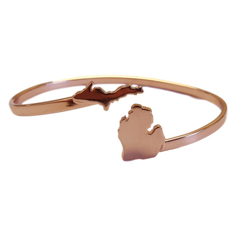 Michigan Copper Made Bangle Bracelet (5 MOQ)
